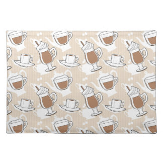 Coffee, sweet pattern placemat