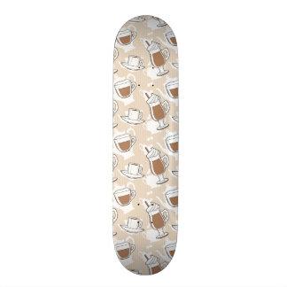 Coffee, sweet pattern skate board