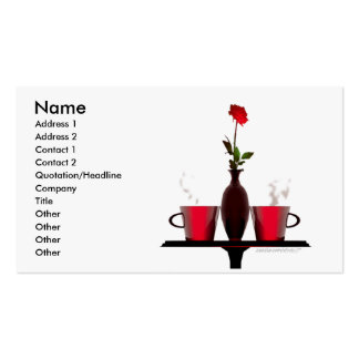 Coffee Table - Business Size Business Card Templates