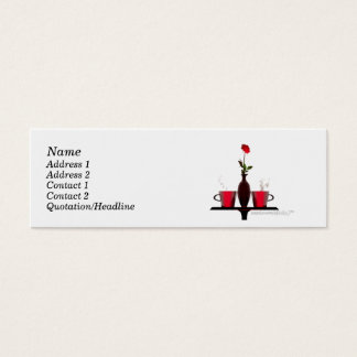 Coffee Table - Skinny Size Mini Business Card