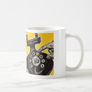 Coffee Talk Dial T For Telephone Basic White Mug