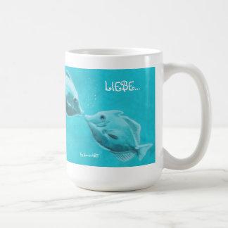 """Coffee/tea cup """"love """" coffee mugs"""