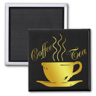 COFFEE & TEA SQUARE MAGNET