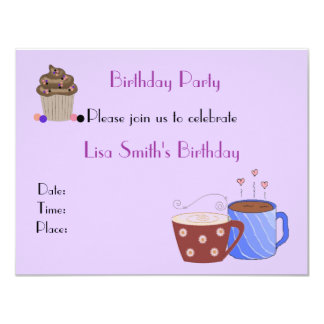 Coffee Theme Birthday Party Invitation