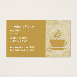 Coffee Theme Business Cards