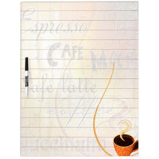 Coffee theme dry erase board
