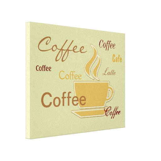 Coffee Theme Wall Decor Gallery Wrapped Canvas