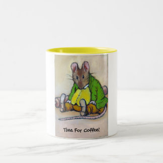 COFFEE TIME AFTER BEATRIX POTTER Two-Tone COFFEE MUG