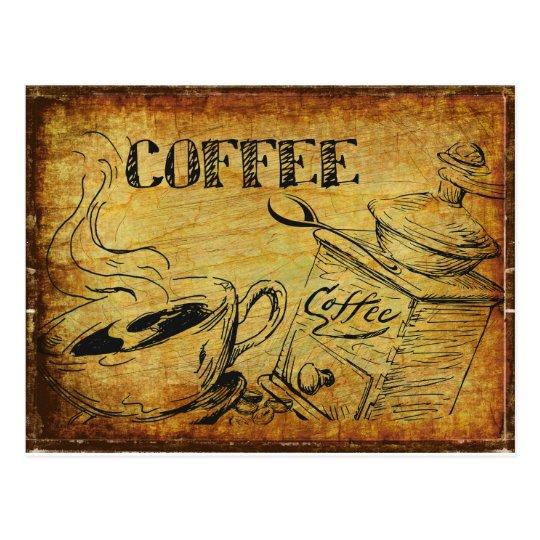 Coffee Time Breakfast Postcard