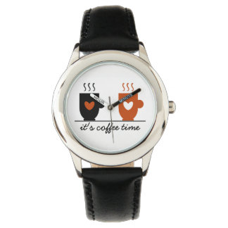 Coffee Time Charming Love Cool Illustration Simple Watch