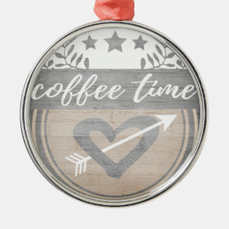 Coffee time christmas ornament