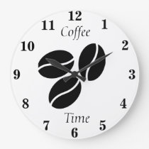 Coffee Time Coffee Bean Clock
