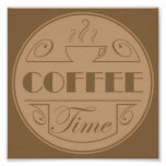 Coffee time emblem poster