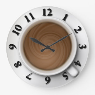 Coffee Time Large Clock
