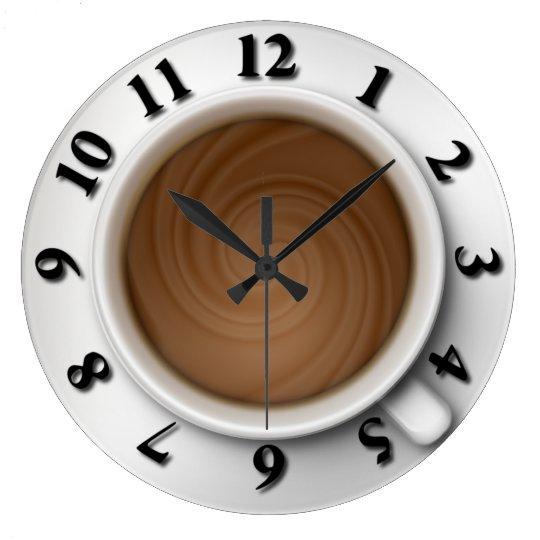 Coffee Time Large Clock