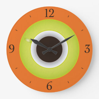 Coffee Time Orange Stylish Large Clock