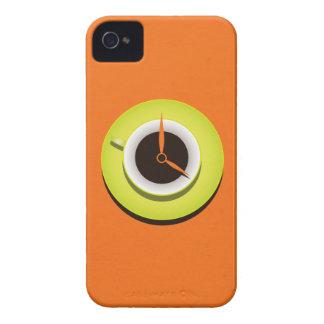 Coffee Time Stylish Vibrant Orange Case-Mate iPhone 4 Case