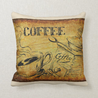Coffee Time Vintage Sign Cushion