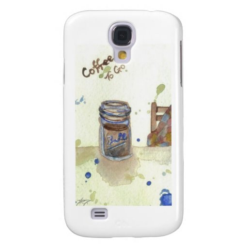 Coffee To Go Folk Art KitchenWare Galaxy S4 Covers