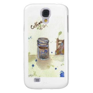 Coffee To Go Folk Art KitchenWare Galaxy S4 Case