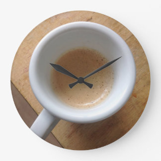 Coffee Wall round clock