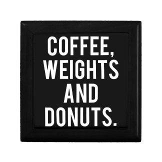 Coffee, Weights and Donuts - Funny Novelty Gym Gift Box