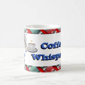 Coffee whisperer funny icon basic white mug