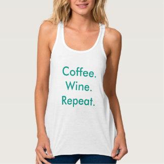 Coffee. Wine. Repeat. Tank Top