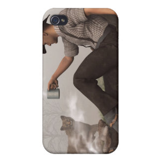Coffee With a Cougar iPhone 4 Cover