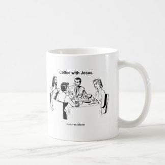 Coffee With Jesus Characters Mug