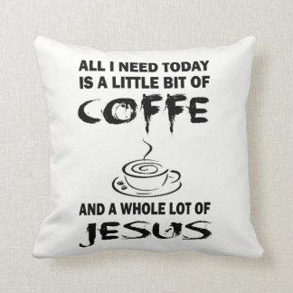 Coffee with Jesus Cushion