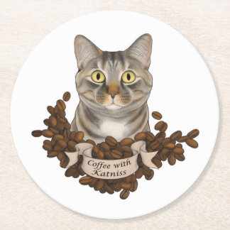 Coffee With K Tpaw Round Paper Coaster