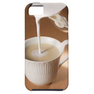 Coffee with milk being poured in iPhone 5 covers