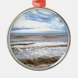 Coffee-with-milk colored sea. christmas ornament