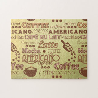 Coffee Words Jigsaw Puzzle