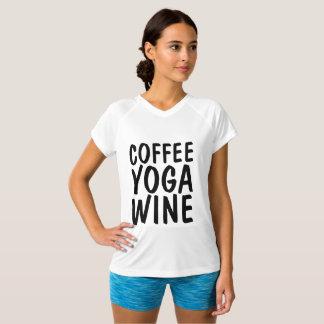 COFFEE YOGA WINE T-shirts