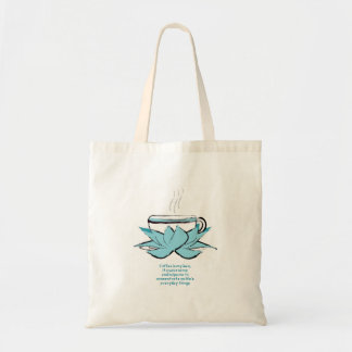 coffee zen budget tote bag