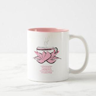 coffee zen Two-Tone mug