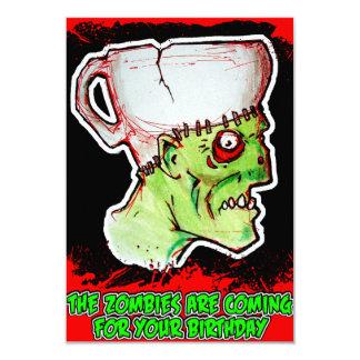 Coffee Zombie greeting and birthday card 9 Cm X 13 Cm Invitation Card