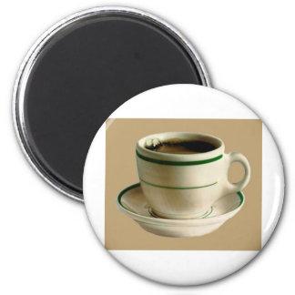 CoffeeCup on tan Refrigerator Magnet