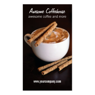 coffeehouse business card templates
