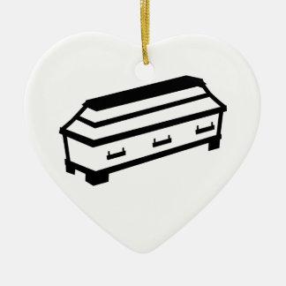 Coffin Ceramic Heart Decoration