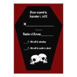 Coffin Ebony II (Red) RSVP Card