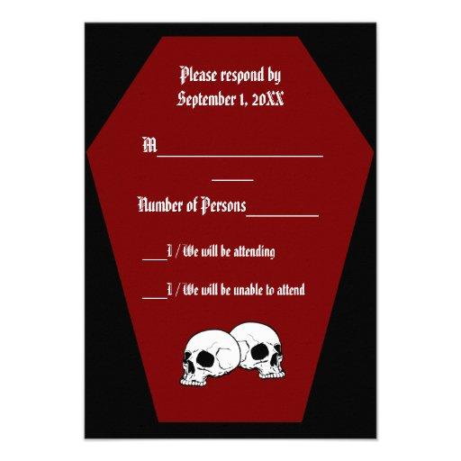 Coffin Ebony III (Red) RSVP Card - LND