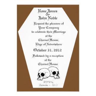 Coffin Ivory (Brown) Wedding Invitation
