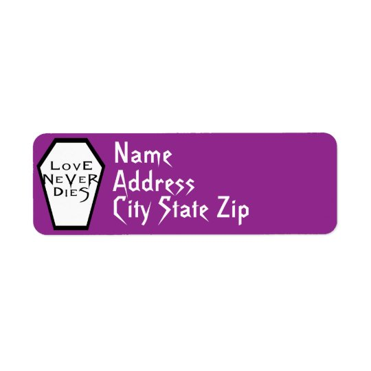 Coffin Ivory I (Purple) Return Label