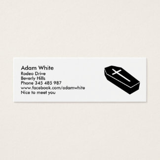 Coffin Mini Business Card