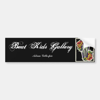 Coffin & Roses sticker Bumper Sticker