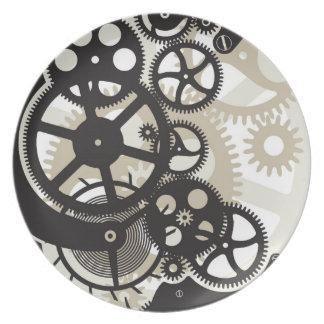 Cog wheels work plate