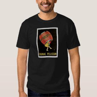 Cognac Pellisson Vintage Wine Drink Ad Art Tee Shirt
